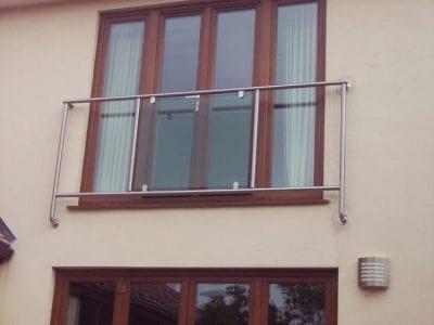 Steel and Glass Juliette Balcony in Poole